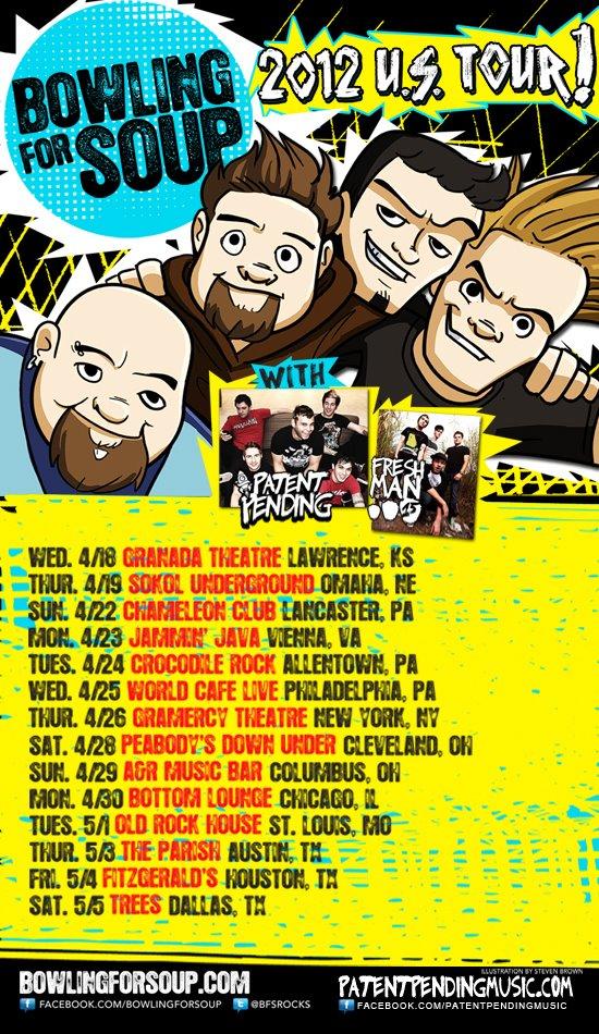 Bowling For Soup Tour ft Patent Pending & Freshman 15