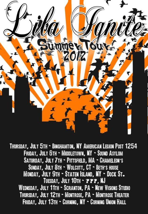 Lila Ignite's Summer 2012 Tour