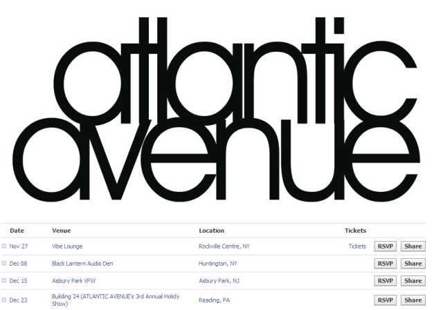 Atlantic Avenue's tour dates