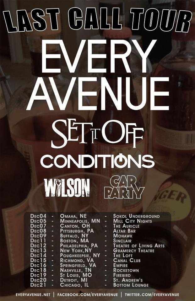 You know you don't want to miss this : Every Avenue's goodbye tour :(