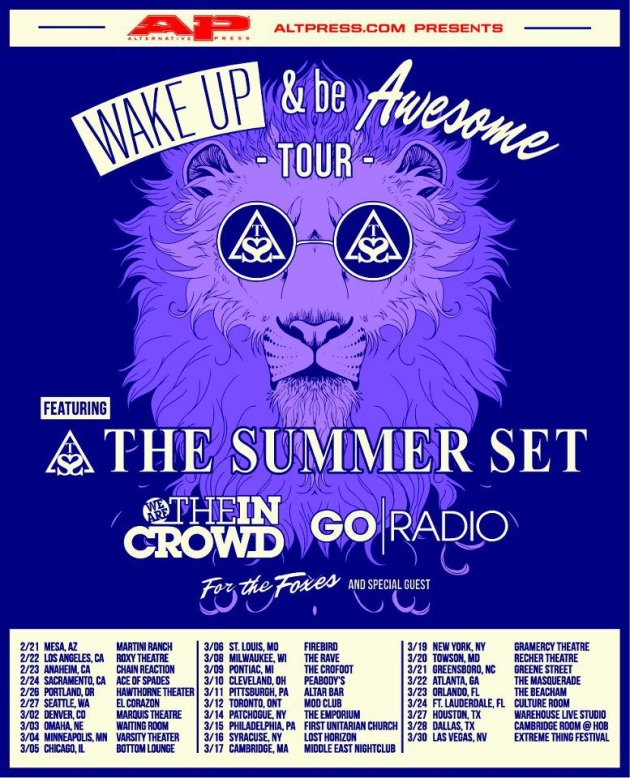 Wake Up And Be Awesome Tour