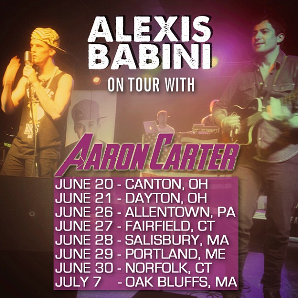 Alexis Babini on tour with AARON CARTER.