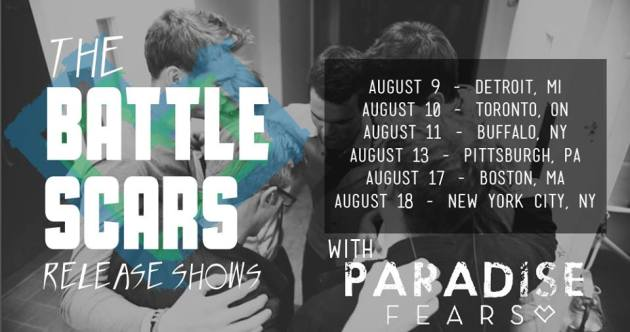 The BATTLE SCARS Release Shows : Paradise Fears