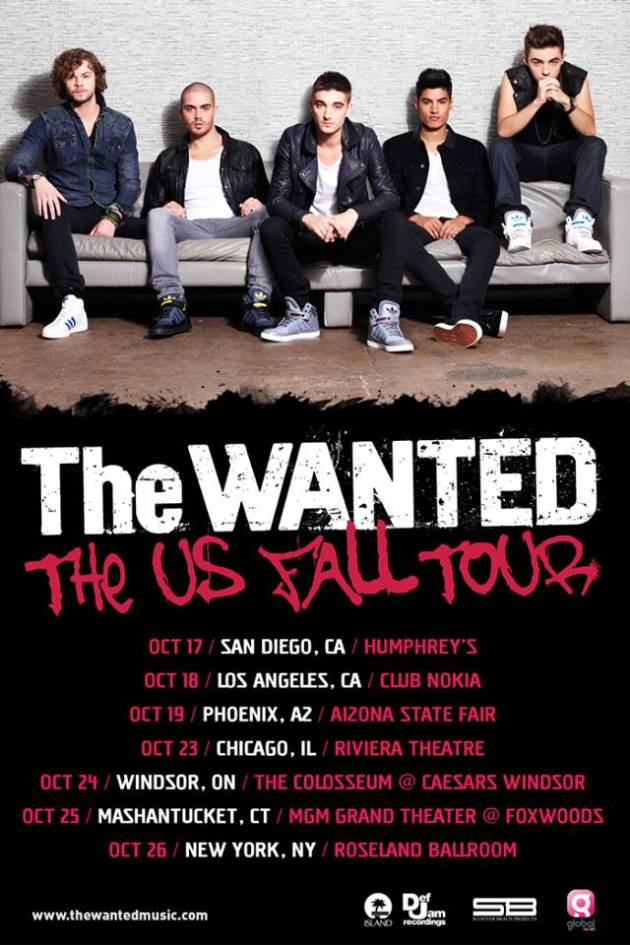 The Wanted announces US Fall Tour