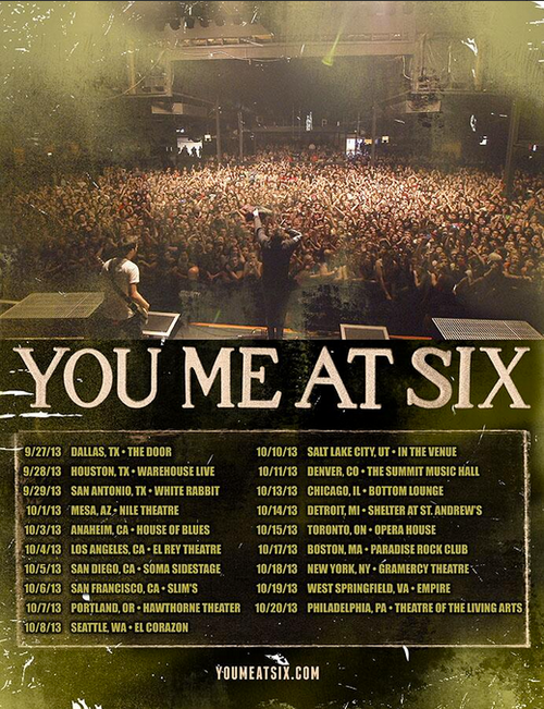 You Met At Six US Tour