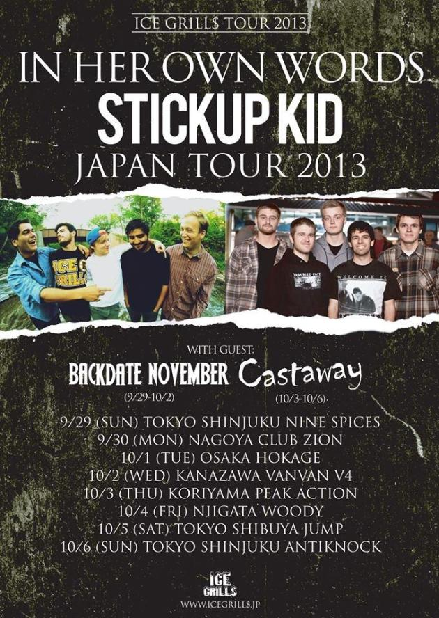 In Her Own Words & Stuck Up Kids : Japan Tour 2013