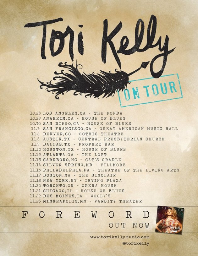 Tori Kelly ON TOUR NOW