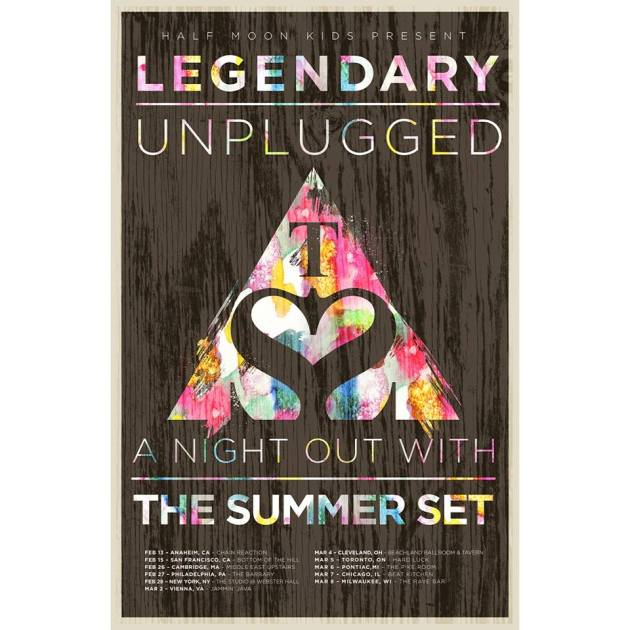 The Summer Set Legendary Unplugged Tour 2014 US/UK