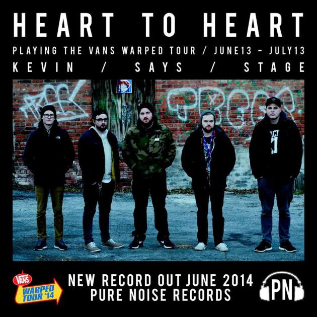 Heart To Heart is playing Vans Warped Tour 2014
